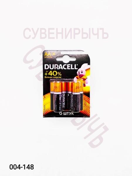 Бат LR-06 DURACELL 6 card