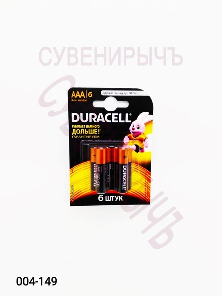 Бат LR-03 DURACELL 6 card