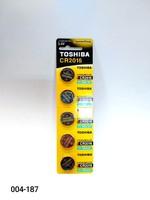 Бат CR-2016 Toshiba 5 card