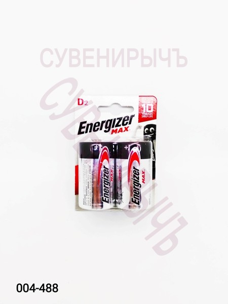Бат LR-20 Energizer Max 2 card