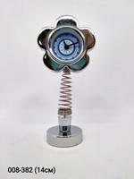 Часы на пружине Цветок метал A20174