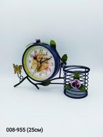 Часы Цветы подставка мет 71-141