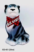 Копилка Тигр в шарфе Все будет ОК 20 см Символ 2022 года