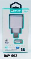 Зарядное устройство 1метр MicroUSB GEYUE GY-C301