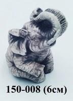 Фигурка Слон сидит 3цвета 6см