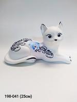 Копилка кошка Муся лежит бел роспись