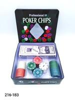 Набор д покера 100фишек 2колоды ж б SM-01