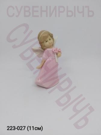 Ангел Девочка с букетом фарфор 4цвета Ge6-1
