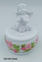 Ангел Шкатулка Розы цв круг Ge5-7В