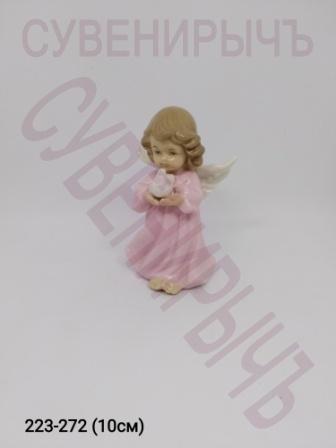 Ангел с голубем фарфор Ge6-15B