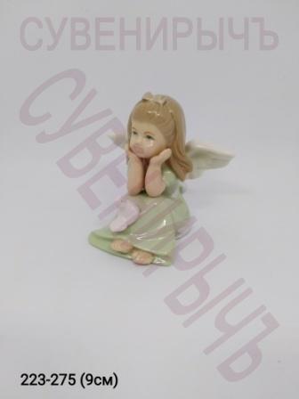 Ангел Девочка с голубем фарфор Ge6-19