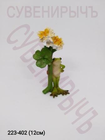 Лягушка с цветами 12784A