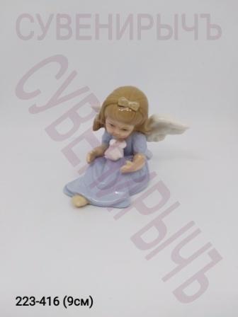 Ангел Девочка с голубем фарфор Ge6-19B