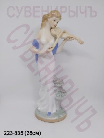 Статуэтка Дама со скрипкой фарфор VS37