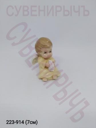 Статуэтка Ангел Малыш сидит фарфор GE6-22