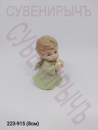 Статуэтка Ангел Малыш стоит фарфор GE6-23