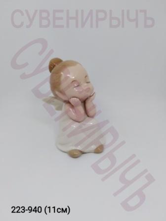 Ангел Задумчивый фарфор Ge15-3