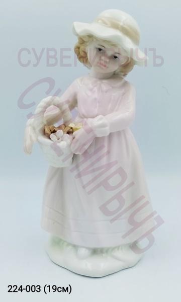 Статуэтка Девочка в шляпке фарфор GE2-11