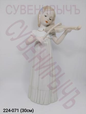 Статуэтка Девочка со скрипакой фарфор VS085