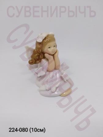 Ангел Девочка Бабочки Фарфор Ge6-3В