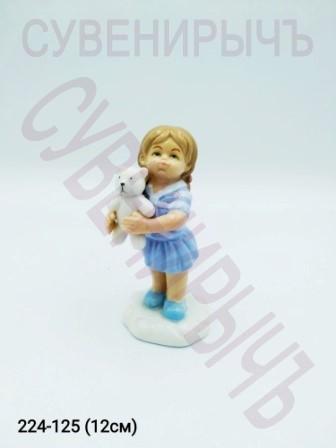 Девочка с мишкой фарфор GE6-08
