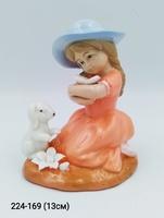 Статуэтка Девочка с зайкой фарфор Ge6-111