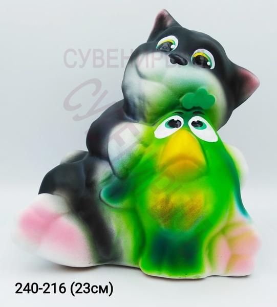 Копилка Кот с птичкой