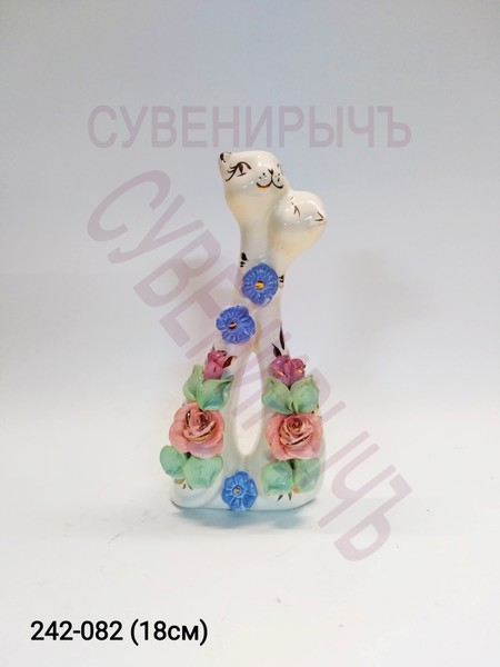 Стат Кот Мультяшка Поцелуй гл лепка СКК-9366