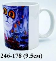 Кружка СПб Кошка и котята бел 1-209