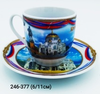 Кофейная пара СПб Кронштадт флаги 36-1054 36-1053