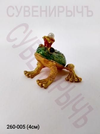 Шкатулка стразы Царевна лягушка 2858з