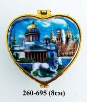 Шкатулка сердце Исаакий 36-6039