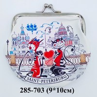 Кошелек поцелуйчик СПб Коты встреча 37-1142