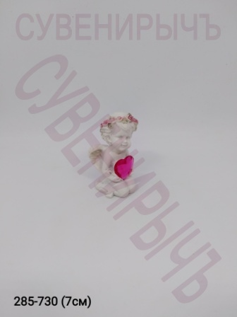 Ангел с сердцем кристалл PLA17037A