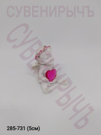 Ангел с сердцем кристалл PLA17037B