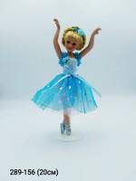 Балерина голубое платье фарфор H-8408D