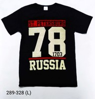 Футболка СПб 78RUS разм L 50 С-078чер