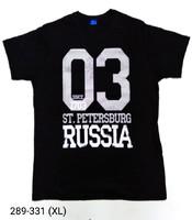 Футболка СПб 1703 Russia чер раз XL