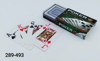 Карты игральные 54л Покер пластик в коробке PK292