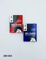 Карты игральные 54л Покер пластик PK004