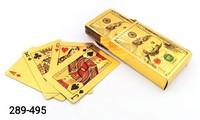 Карты игральные 54л Покер пластик зол доллар PK00