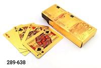 Карты игральные 54л Покер пластик зол евро PK-005