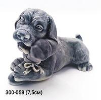 Мраморная крошка Собака Пес с косточкой шарж