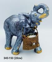 Копилка Слон резной Серебро мал
