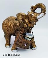 Копилка Слон резной Бронза мал