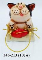 Статуэтка Кот в сумке Колокольчик
