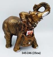 Копилка Слон резной Бронза сред