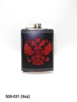 Фляга 8oz Кожа Герб СССР