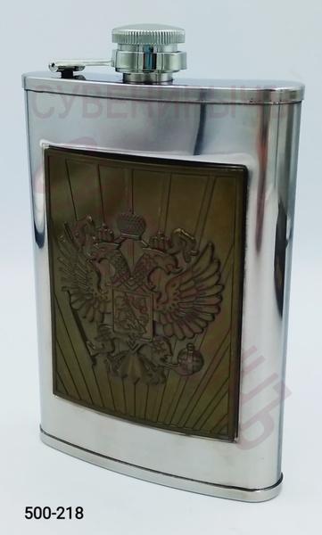 Фляга 9oz Металл бронз Герб России BG-9A
