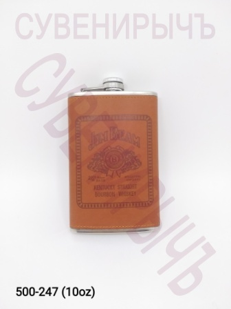 Фляга 10oz Кожа Виски кор BP-10A